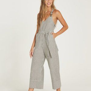 NWOT BILLABONG Bella Day Jumpsuit Pinstripe